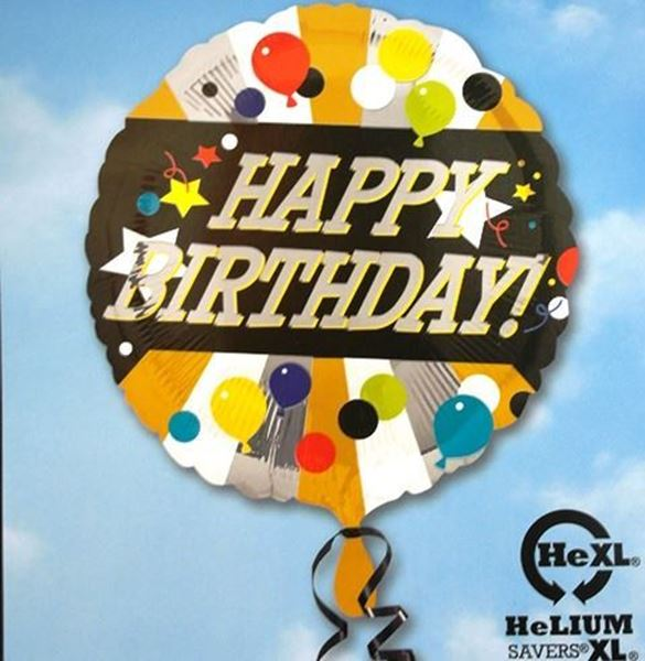 Picture of HF001 - Happy Birthday Helium Foil Balloon