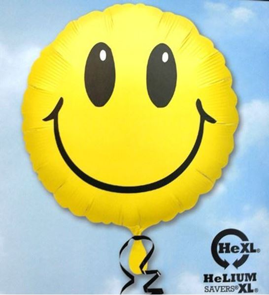 Picture of HF004 - Smiley Helium Foil Balloon