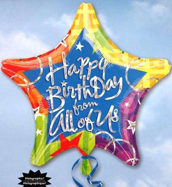 Picture of HF012 - Happy Birthday Helium Foil Balloon