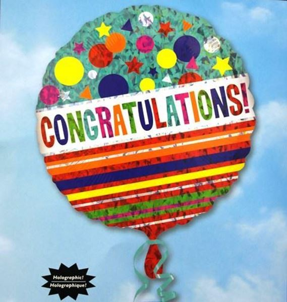 Picture of HF016 - Congratulations Helium Foil Balloon