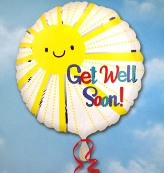Picture of HF021 - Get Well Soon Helium Foil Balloon