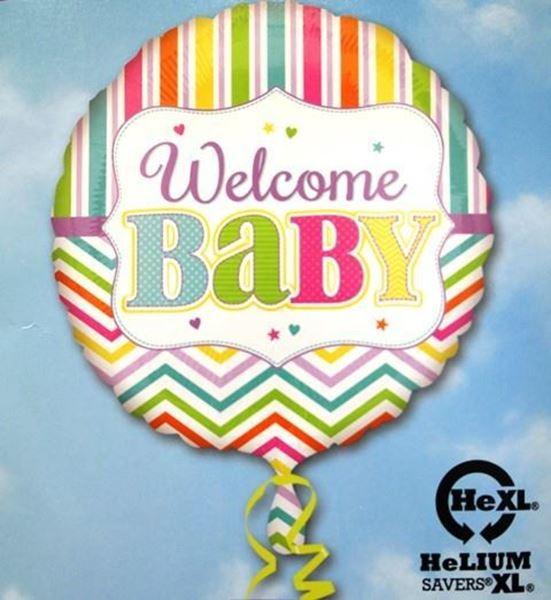 Picture of HF024 - Welcome Baby Helium Foil Balloon