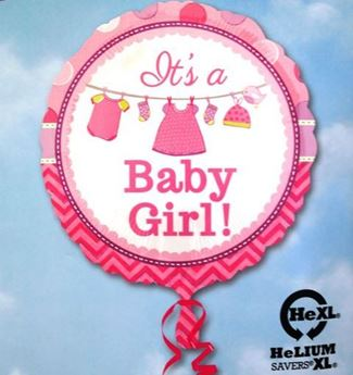 Picture of HF026 - Baby Girl Helium Foil Balloon