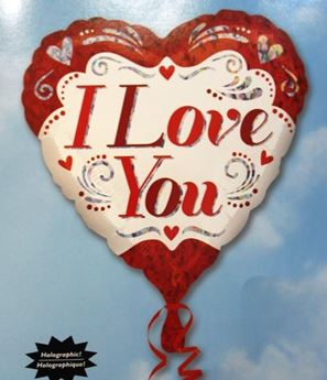 Picture of HF030 - I Love You Helium Foil Balloon