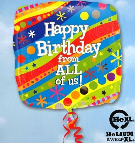 Picture of HF032 - Happy Birthday Helium Foil Balloon