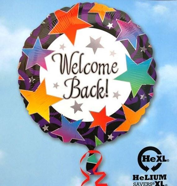 Picture of HF036 - Welcome Back Helium Foil Balloon