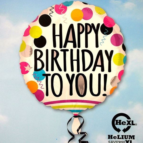 Picture of HF041 - Happy Birthday Helium Foil Balloon