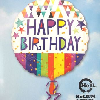 Picture of HF042 - Happy Birthday Helium Foil Balloon