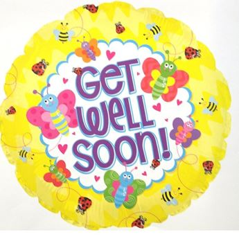 Picture of HF044 - Get Well Soon Helium Foil Balloon