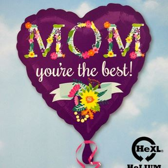 Picture of HF051 - Mom The Best Helium Foil Balloon