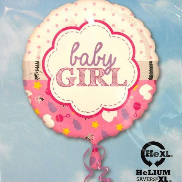 Picture of HF054 - Baby Girl Helium Foil Balloon