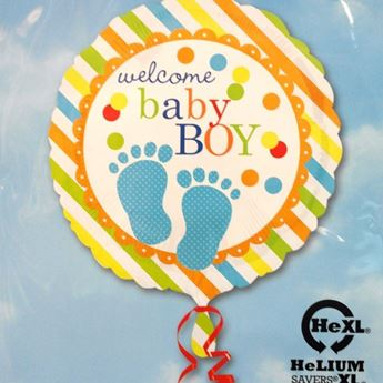 Picture of HF055 - Baby Boy Helium Foil Balloon