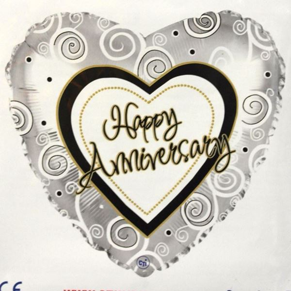 Picture of HF061 - Anniversary Helium Foil Balloon