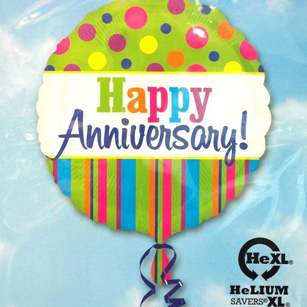 Picture of HF065 - Anniversary Helium Foil Balloon