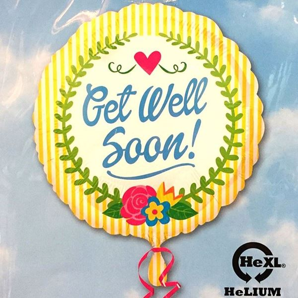 Picture of HF066 - Get Well Soon Helium Foil Balloon