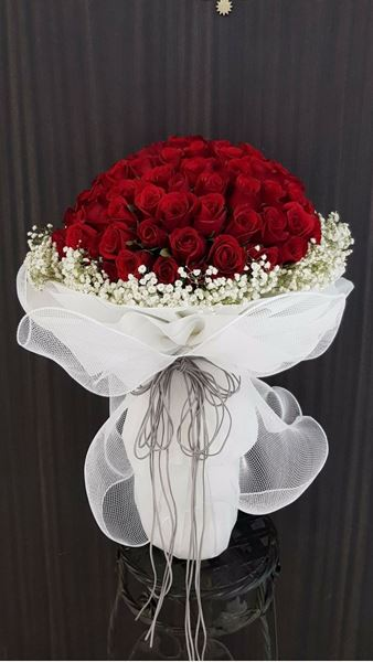 Picture of HB034 - 99 Stalk Roses Bouquet